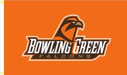 Wholesale Falcon X - Bowling Green Falcons Flag 90 x 150 cm Polyester NCAA Stars And Stripes Banner