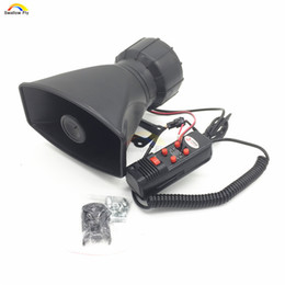 Wholesale Police Siren Speakers - 60W Car or Motorcycle Speakers Warning Siren Alarm Police Ambulance loudspeaker with MIC