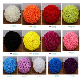 Wholesale Purple Pomander Kissing Ball - 12 Inch (30cm) Wedding silk Pomander Kissing Ball flower ball decorate flower artificial flower for wedding garden market decoration