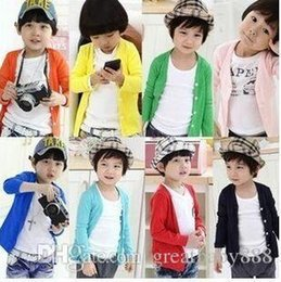 Wholesale Plain Baby Clothes - 14 style Children Crochet Clothing Kids Tops Baby Boys Girls Plain Sweater Coat Blouse Crochet Winter Autumn Knitted Sweaters 100-140cmE931