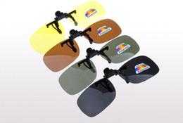 Wholesale Polarized Sunglasses Online - Polarized Sun Glasses Clip On Sunglasses Online 3 Size Driving Night Vision Lenses Anti-UVA Shades For Women Men Wholesale Price 20PCS Lot