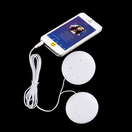 Wholesale Speaker Pillows - Wholesale- Universal 3.5mm Dual Speakers Music Pillow Speakers Loudspeaker For MP3 MP4 For Mobile Phones PC Computer Laptop Notebook White