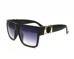 Wholesale Retro Square Clear Lens Glasses - Fashion medusa retro outdoor square sunglasses men luxury brand original sun glasses come with case and boxes