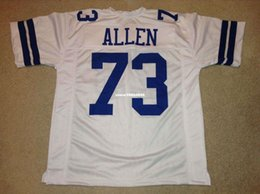 Wholesale Larry Allen Jersey - Cheap Retro custom Sewn Stitched #73 Larry Allen White Jersey Throwback Men's football jerseys