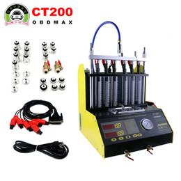 Inglês limpo on-line-A gasolina de AUTOOL CT200 automotivo / velomotor Van Injector Cleaner Injection 220V / 110V com painel inglês melhor do que o lançamento CNC602A