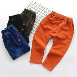 Wholesale Cheap Harem Pants - New 2017 Button boys girls Harem Pants Fashion Children Trouser Cotton Cheap Kids Casual Pants Long Trousers Toddler Clothes wear A876