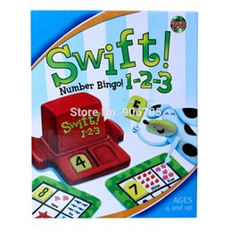 Wholesale Bingo Game - Wholesale- SWIFT 1-2-3 numbers bingo family game children numbers Intellect Game Set educational toys Game,family fun toys for kids