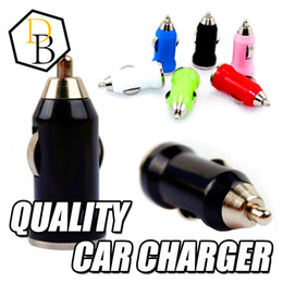 Wholesale High Quality Usb Car Charger - For iphone 6S Samsung NOTE 5 Car Charger USB High Quality Adapter Bullet Charger Mini Portable Charger Universal Adapter phone & pad