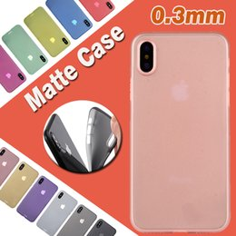Wholesale Clear Lens Cover - 0.3mm Ultra Slim Thin Matte Frosted Clear Transparent Soft PP Full Cover Lens Protection Back Skin Cover Case For iPhone X 8 7 Plus 6 6S