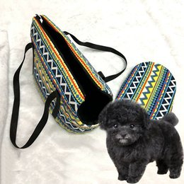 Wholesale Pet Carrier Small - Pet Carrier Bag Canvas Cat Dog Carrier Samll Dog Bags Portable Outdoor Travel Handbag Dog Tote Pet Puppy Kitten Products JJ0226
