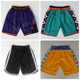 Wholesale Brook S - 1996 All Star Basketball Pant Denver 55 Dikembe Mutombo Toronto 10 DeMar DeRozan Shorts Brooklyn 11 Brook Lopez Sweatpants Breathable