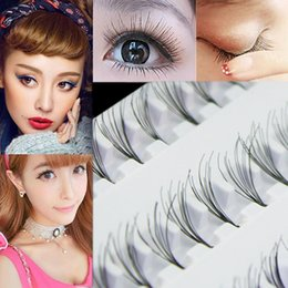 Wholesale Cluster Lashes - Wholesale- Kit Eye Lashes Extension Black 8mm 10mm 12mm 60 Individual False Cluster Eye Lashes Extension Tray Natural Eye Lashes Set 8LNK