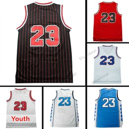 Wholesale Cheap Mesh Shirts - Men Mesh #23 Basketball Jersey Cheap Youth Kid #23 Jersey Sales Classical Black Red White Shirt 100% stitched Embroidery Logos Free Shipping