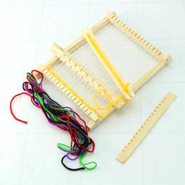 Wholesale Wood Craft Kits Wholesale - Wholesale- Wood Knitting Loom Yarn Shuttle Comb DIY Handmade Craft Tool Educational Toy Kit Kids Gift SS