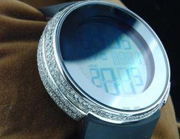 Wholesale custom digital watch - BOX TOP Hot Sale AAA Mens Diamond White Watch Mens Full Casing 114 Chronograph Row Custom Digital Mens Sport Styles quartz watches