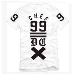 Wholesale Black Chef - Europe and US street DXPE fashion Dope Chef crosses No. 99 West Coast skateboard Men T-Shirt Tee cotton