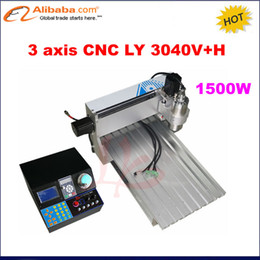 Wholesale Mini Metal Milling Machine - Wholesale- 2017 New! mini CNC 3040 1.5KW engraving machine ,3 axis drilling milling CNC Router 4030 for metal,plastic and wood