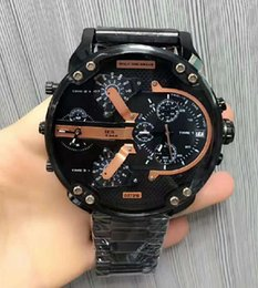 Wholesale Luxury Watch Blue Dial - 2017 watchesoffer2u suggest AAA Luxury Brand watches Seven-Eye Black Calendar Large Watch Men's Sports Men's Watch 5.7 Big Dial, DZ7333