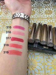 Wholesale Intense Lights - France Makeup Brands Famous Matte Lipstick Le Rouge Couleur Intense Matite Sensuelle 2.2g 0.07oz