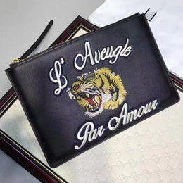 Wholesale Bag Ladies Wallets - 2017 G Fashion Bags Luxury Fashion Bags Men Bag Tiger pattern bag Lady Brand Handbags Bags Totes
