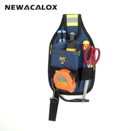 Wholesale Pockets Electrician Bag - Wholesale-3 Pocket 600D Oxford Fabric Electrician Waist Bag Waterproof Pouch Hand Tool Organizer Storage Tool Holder 25x15cm