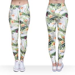 2019 tropische blumendrucke Frauen Leggings Tropische Blume 3D Grafik Drucken Lady Skinny Stretchy Yoga Tragen Hosen Gym Fitness Bleistift Fit Capris Weiche Hosen (J36741) rabatt tropische blumendrucke