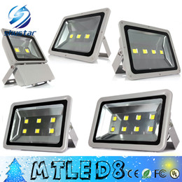 Wholesale DHL Outdoor lighting W W W W W Epistar Led Floodlight AC85 V Flood light Waterproof Outside Led Reflect