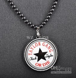 Wholesale Good Wood Gang - New Style Hip Hop Taylor Gang Or Die custom acrylic necklace good wood pendant free shipping