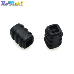 Wholesale Rope Stopper - 100pcs lot Bell Stopper Plastic Cord Ends Toggle With 4.4mm Hole Rope Sportwear String Riband Apparel Bags Parts Accessorie