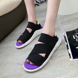 Wholesale Elastic Sandals - Wholesale-2016 New Fashion Y3 Sandals KAOHE SANDALS Indoor Men Alippers Open-toed Leather Sandals Men Sandals Top Quality Mans Footwear