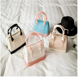 Wholesale Candy Jelly Bag Free Shipping - Mini Jelly Candy Cross Body New Style Handbag PVC Pure And Fresh High-Capacity The Pillow Handbag Free Shipping