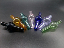 Wholesale Wholesale Dia Pipes - Universal colorful carb cap round ball dome XL thick Quartz thermal banger Nails dia about 20mm for smoking glass water pipes fittings