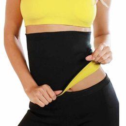 Wholesale Tummy Hot Belt - Wholesale- Waist Trainer Hot Body Shapers Neoprene Shaper Sweat Women Bodysuit Waist Belt Cinchers Slimming Corsets Tummy Fat Burner Slim