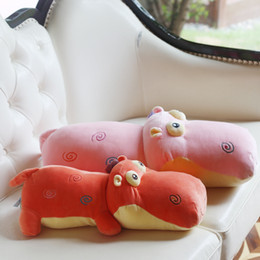 Wholesale Girl Hippo - High quality plush hippo doll pillow cushions sleeping plush toys dolls birthday gifts to send girls gifts wholesale