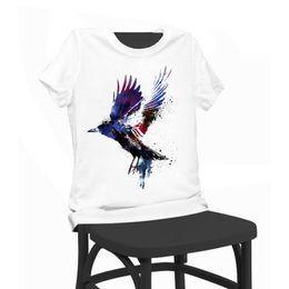 Wholesale T Shirt Birds Women - Birds Print Beauty T-shirt Funny T Shirts Short Sleeve Tee Shirt Tops Clothes Women's Summer T-Shirt For Women Lady Girl