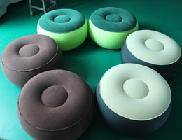 Wholesale Outdoors Chairs - Wholesale-Fashion Inflatable Couch Bean Bag Air Cube Chair Movies Gaming Reading Relaxing Camping Outdoor Car inflatable cushion Chair