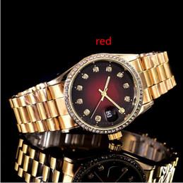 38mm ultra sottile Ladies Design semplice full diamond watch womens luxury designer Top famoso marchio oro rosa bracciale in acciaio inossidabile 11 da braccialetto d'oro disegno semplice fornitori