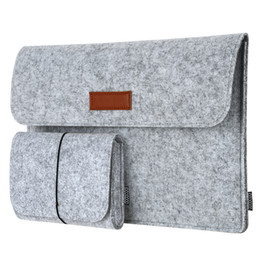 "Wholesale 13 Inch Laptop Briefcase - dodocool Laptop Sleeve 13.3 Inch Felt Envelope Cover Ultrabook Carrying Case with Mouse Pouch for Apple 13"" MacBook Air Pro DA98"