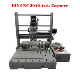 Wholesale Engraving Drilling Machines - Engraving machine DIY 3040 4axis CNC Drilling and Milling Machine for wood, plastic, wax, softsteel and etc