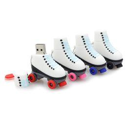 Wholesale Skate Shape - Promotion Gift Memory Stick Silicone Roller Skate Shape Gadget Mini Pen Drive Portable USB Flash Drive 1GB 2GB 4GB 8GB 16GB 32GB