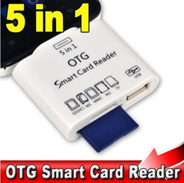 Wholesale S3 Reader - 6 in 1 Micro USB OTG Smart Card Reader for SD MS MMC M2 TF Card for S2 S3 S4 Android Phones USB Flash Disk Read Supported