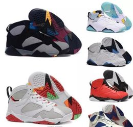 Wholesale Gold Wholesaler Online - (Free By DHL)Cheap retro 7 men's basketball shoes Olympic sneaker Retro Bobcats Tinker Alternate discount sports shoes for man online