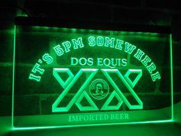 Wholesale Dos Equis Neon - LA422g- It's 5 pm Somewhere Dos Equis Bar LED Neon Light Sign
