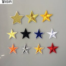 Wholesale Wholesale Clothing Sweaters - 1.57inches,Star Pattern Embroidered Clothes Patches,Iron On Sew On Patch,Applique For Garment,Hats,Sweater,Backpack Sewn