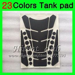 Wholesale R1 Tank Protector - 23Colors 3D Carbon Fiber Gas Tank Pad Protector For YAMAHA YZFR1 15 16 17 YZF R1 YZF 1000 YZF1000 YZF-R1 2015 2016 2017 3D Tank Cap Sticker