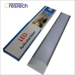 Wholesale Cool Office - 2Ft 3Ft 4Ft Purification LED batten tube light For indoor using home office supermarket surface mounted ceiling light