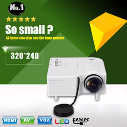 Wholesale Home Theater Multimedia Projector - Wholesale-Excelvan GM40 Portable Mini Projector Multimedia Cinema Theater Digital LED Projector VGA USB SD AV HDMI Projector