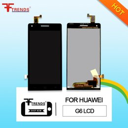 Wholesale Huawei Ascend P6 Screen - High Quality A+++ for HUAWEI Ascend P6 G6 G7 LCD Display & Touch Screen Digitizer with   No Frame Assembly Black White