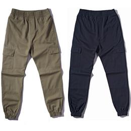Wholesale Cargo Bottoms - Wholesale- 2017 fashion loose Long Pant Men Baggy Jogger Trousers Fashion Fitted Bottoms hiphop CARGO pants Fashion Casual overalls