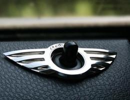 Wholesale Mini Cooper Interior - 3D metal Mini cooper sticker for BMW mini car sticker mini modified car interior trim stick car door mini-door wings labeling
